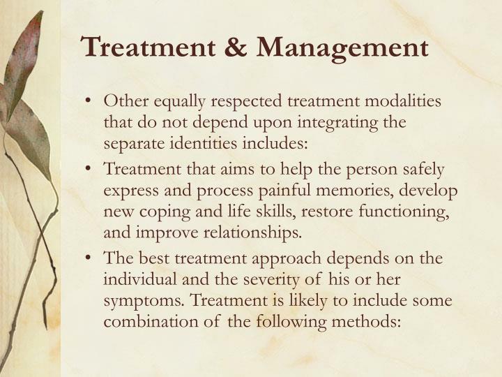 Treatment & Management
