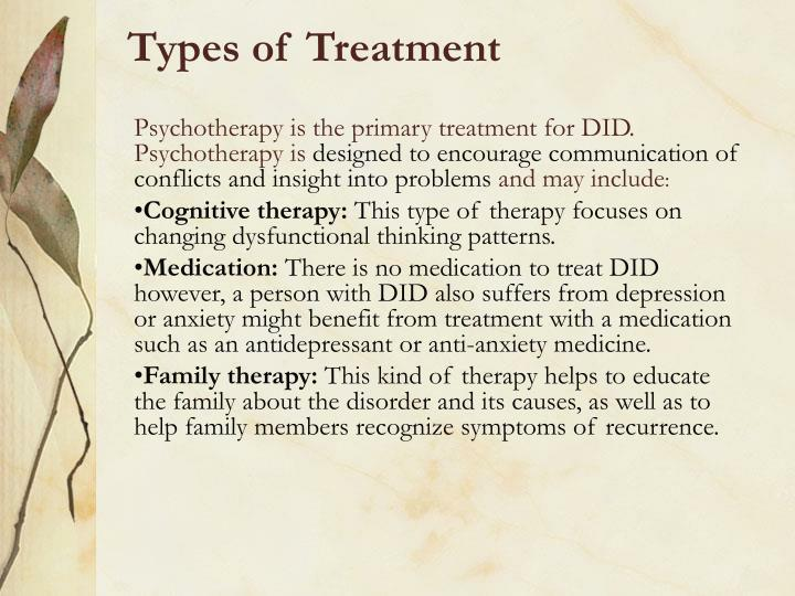 Types of Treatment