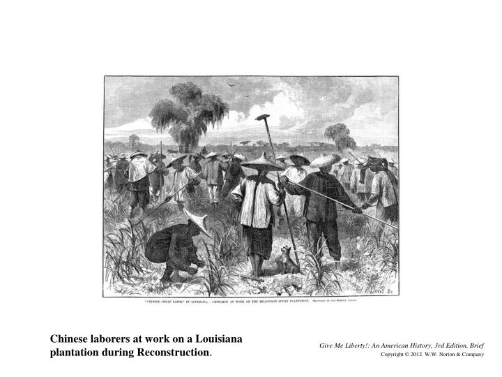 Chinese laborers at work on a Louisiana