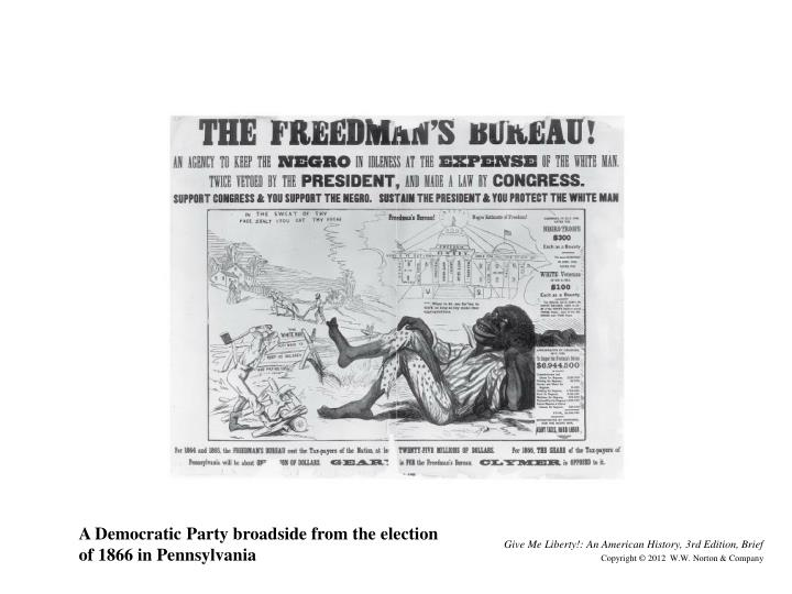 A Democratic Party broadside from the election