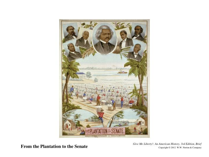 From the Plantation to the Senate