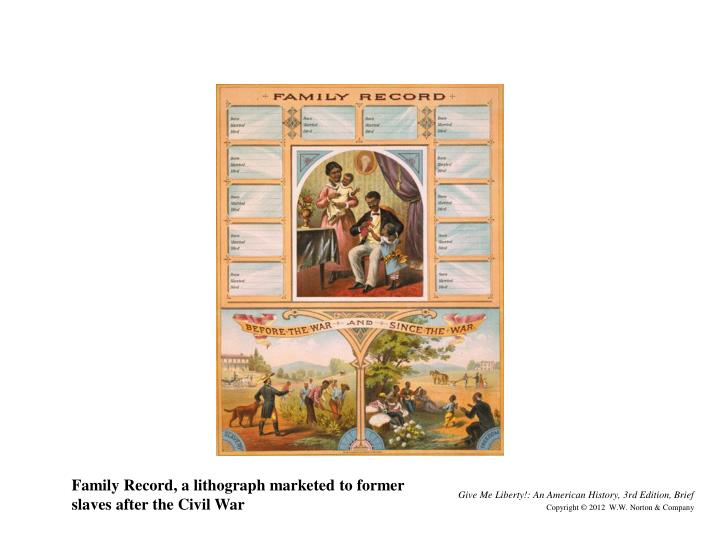 Family Record, a lithograph marketed to former