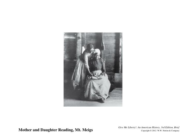 Mother and Daughter Reading, Mt. Meigs