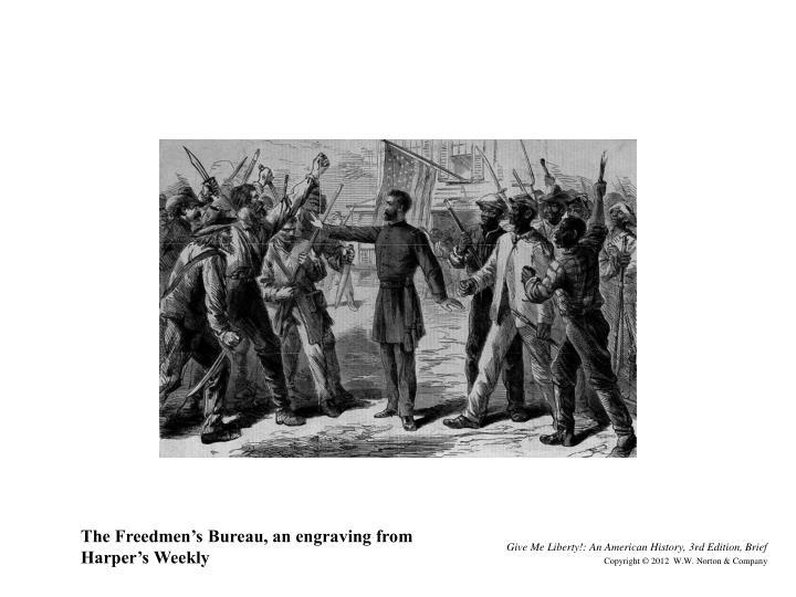 The Freedmen's Bureau, an engraving from