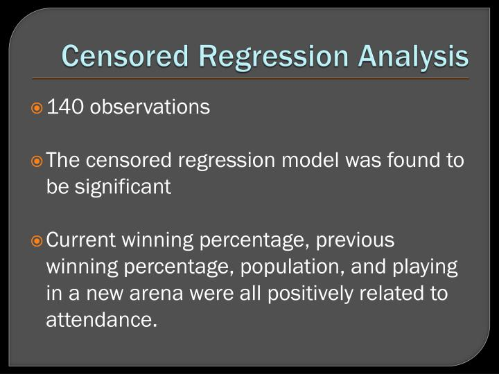 Censored Regression Analysis