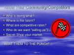 know your community competitors