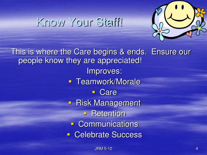 Know Your Staff!