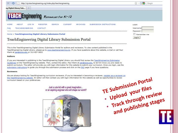 TE Submission Portal
