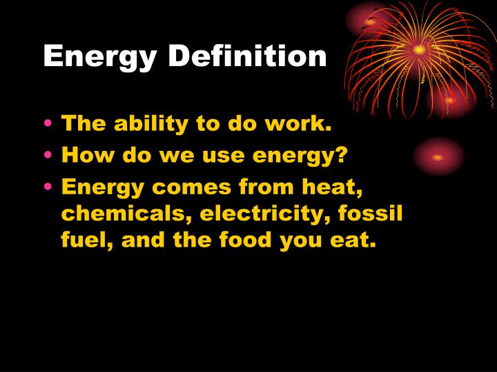 Energy definition
