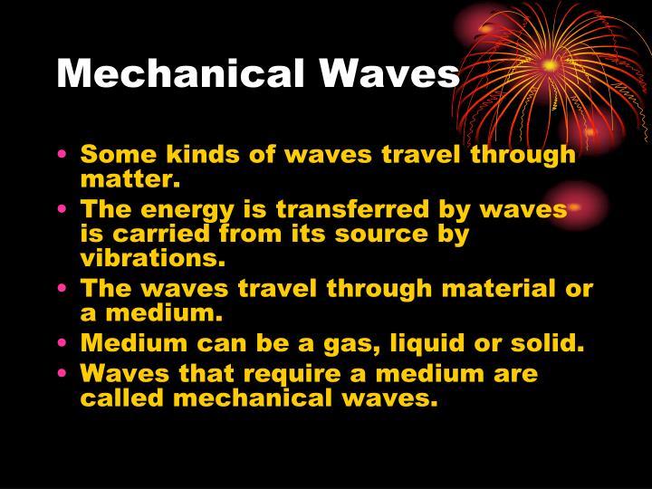 Mechanical Waves