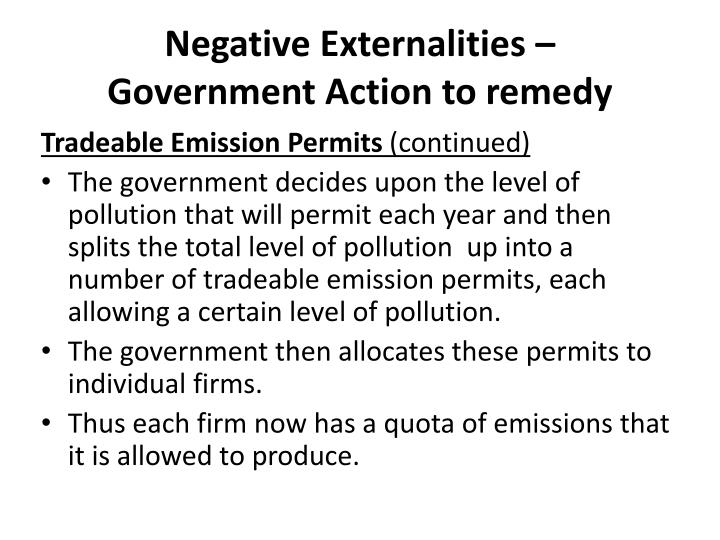 Negative Externalities –