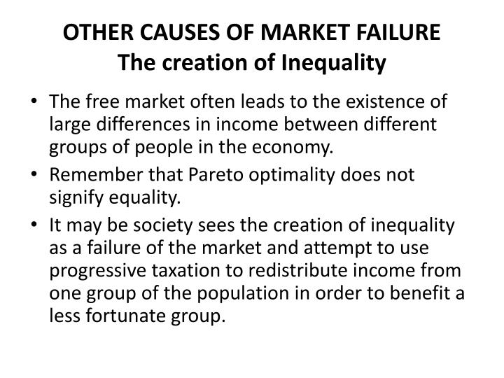 OTHER CAUSES OF MARKET FAILURE