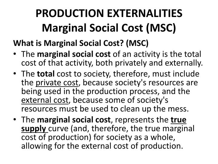 PRODUCTION EXTERNALITIES