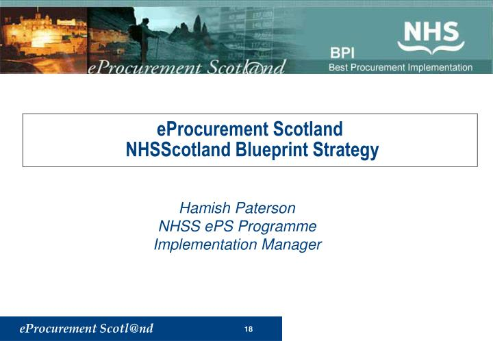 eProcurement Scotland