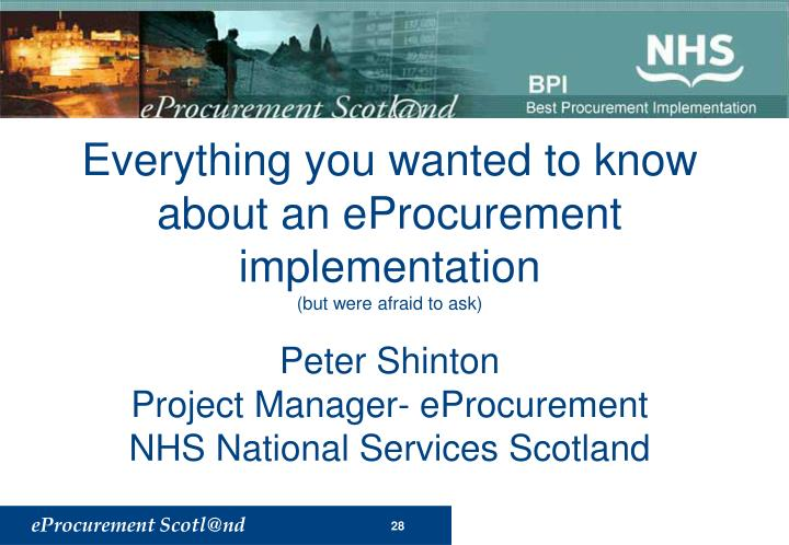 Everything you wanted to know about an eProcurement implementation