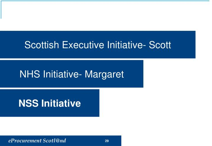 Scottish Executive Initiative- Scott
