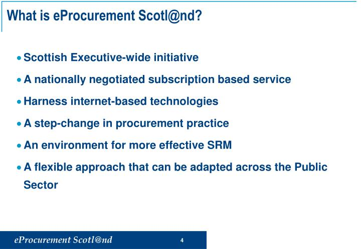 What is eProcurement Scotl@nd?