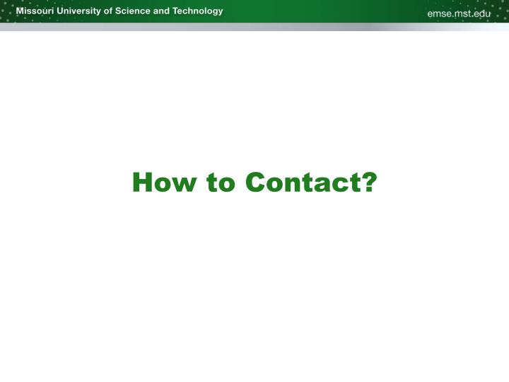 How to Contact?