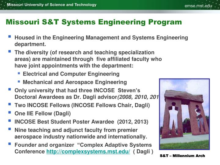 Missouri S&T Systems Engineering Program