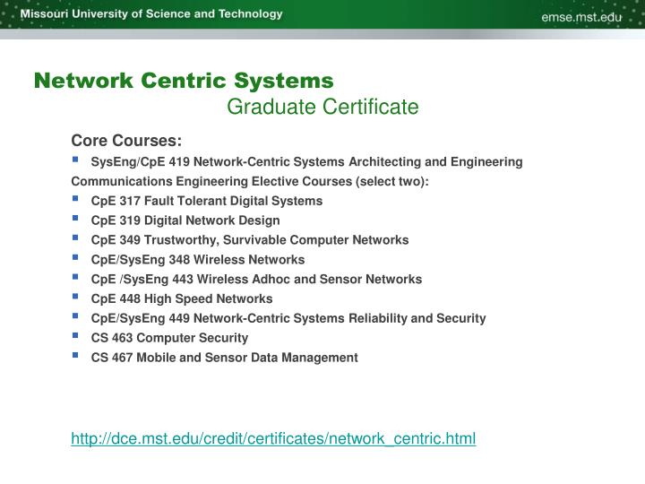 Network Centric Systems