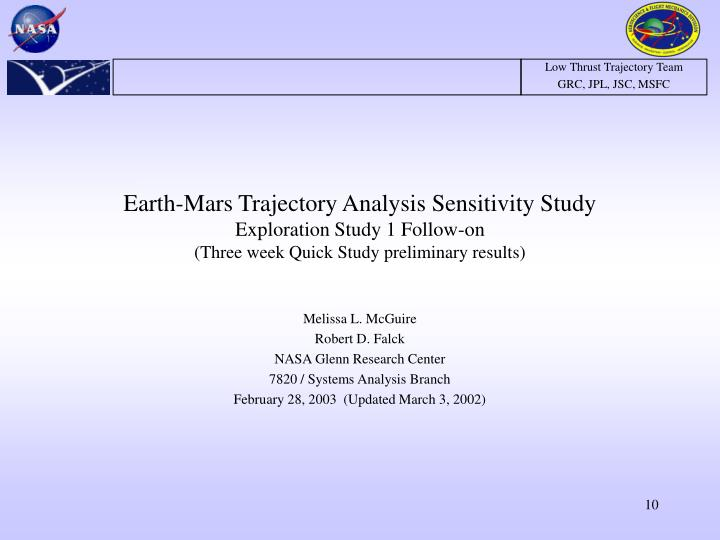 Earth-Mars Trajectory Analysis Sensitivity Study