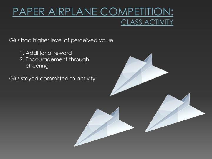 Paper Airplane Competition: