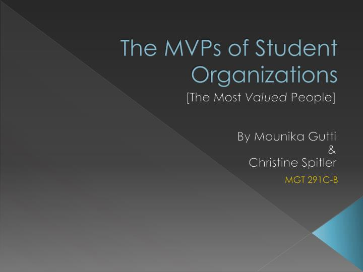 The mvps of student organizations1