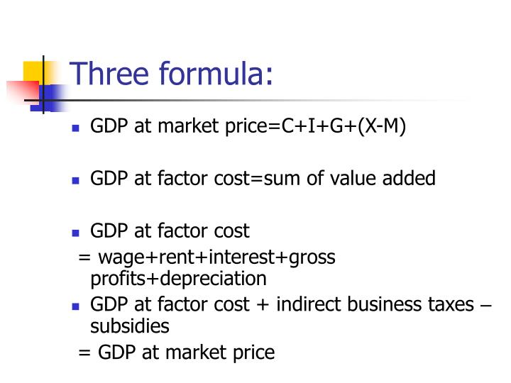 Three formula: