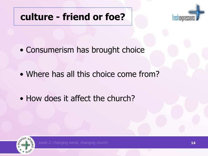 culture - friend or foe?