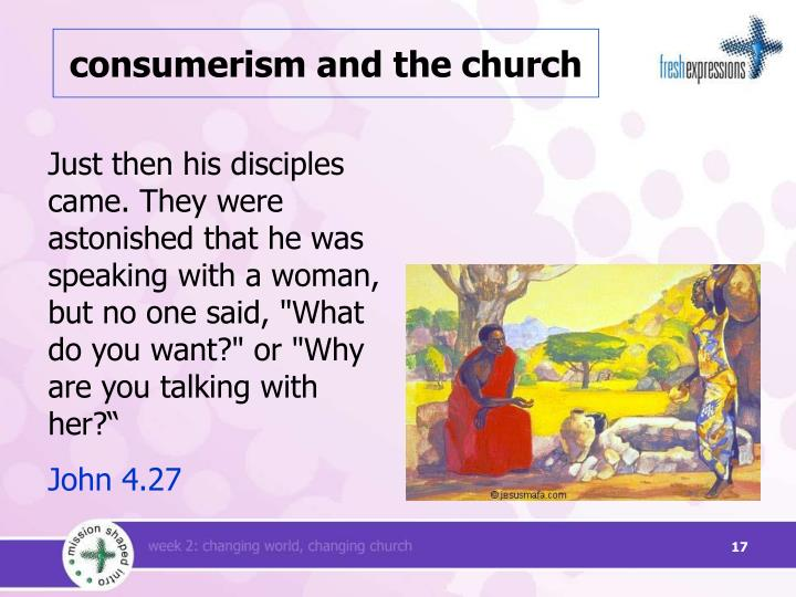 consumerism and the church
