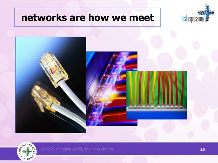 networks are how we meet