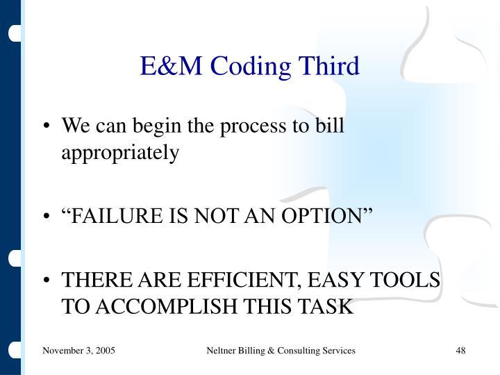 E&M Coding Third