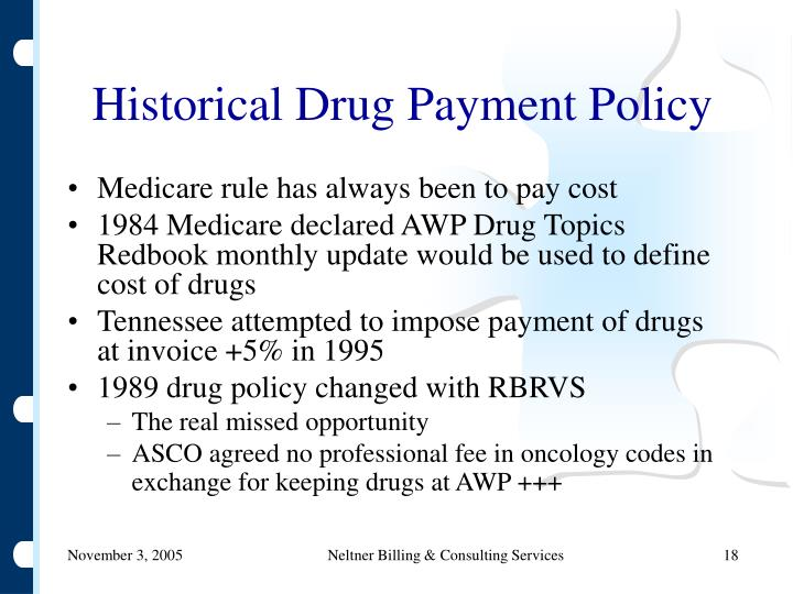 Historical Drug Payment Policy