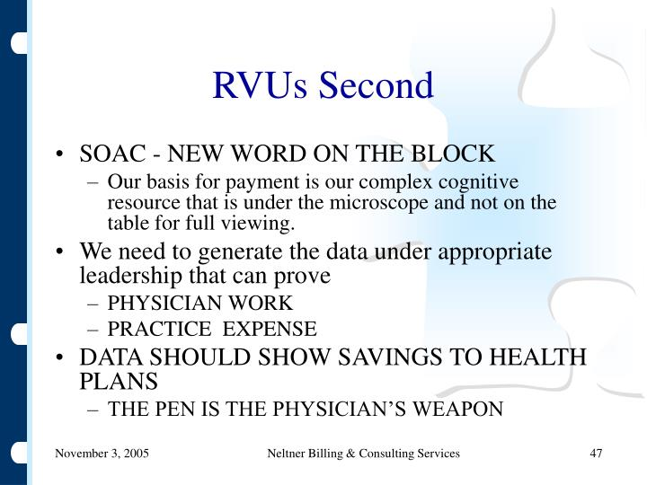 RVUs Second