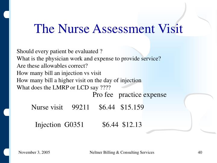 The Nurse Assessment Visit