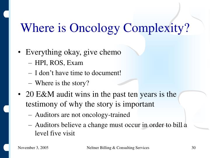Where is Oncology Complexity?