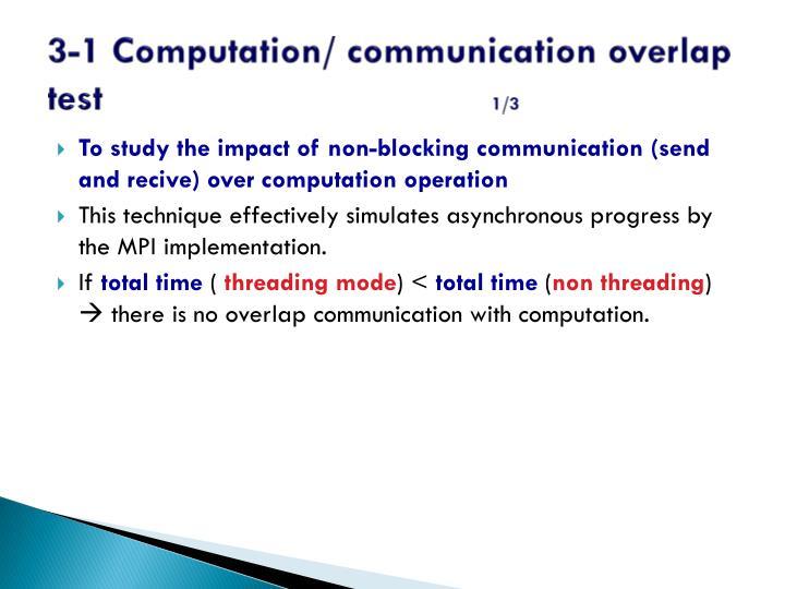 3-1 Computation/ communication overlap test