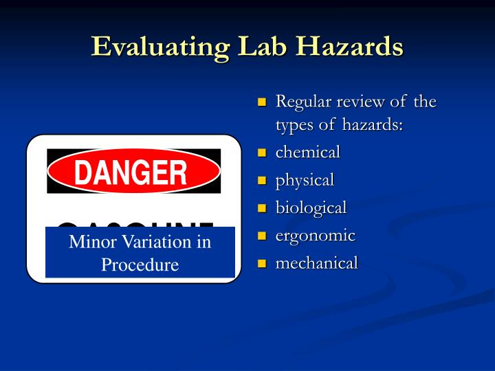 Evaluating Lab Hazards