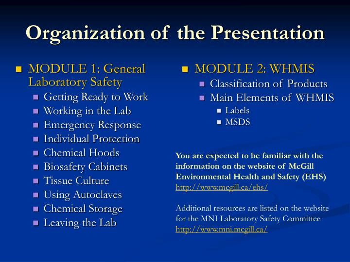 MODULE 1: General Laboratory Safety