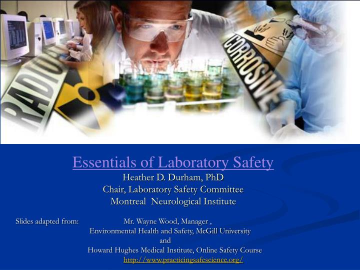 Essentials of Laboratory Safety