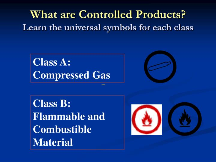 What are Controlled Products?