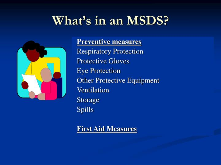 What's in an MSDS?
