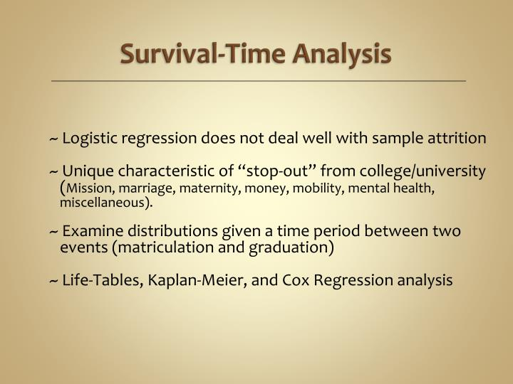 Survival-Time Analysis