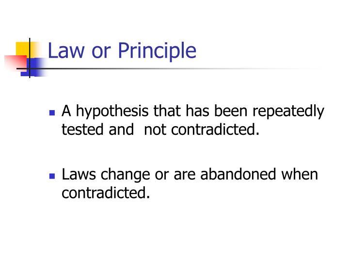 Law or Principle