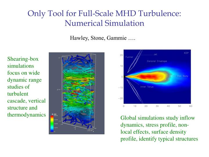 Only tool for full scale mhd turbulence numerical simulation