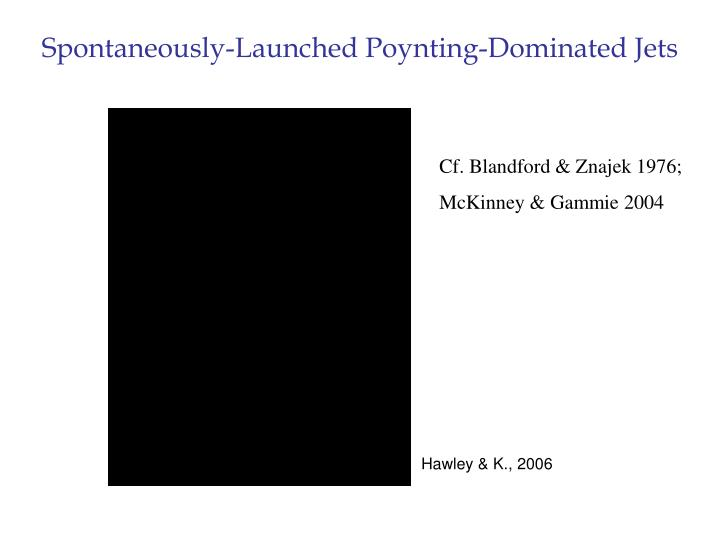Spontaneously-Launched Poynting-Dominated Jets