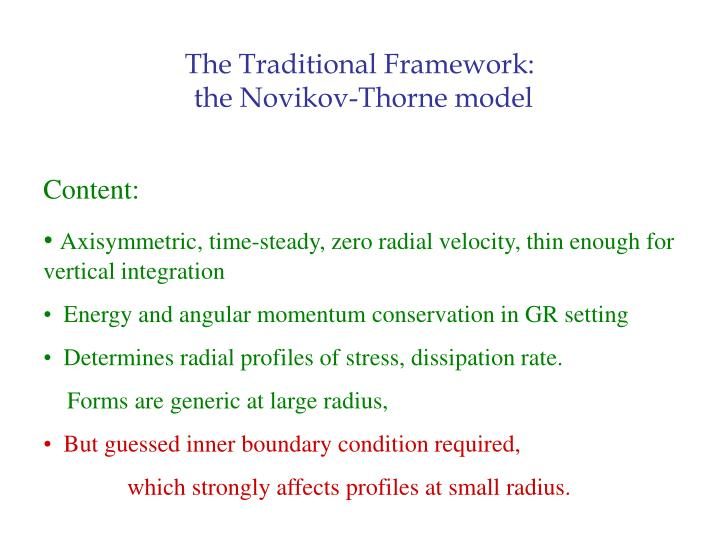 The Traditional Framework: