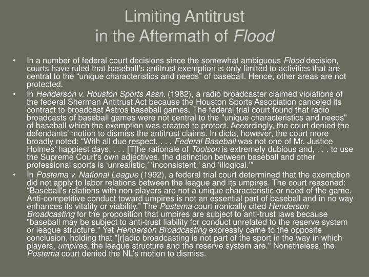 Limiting Antitrust