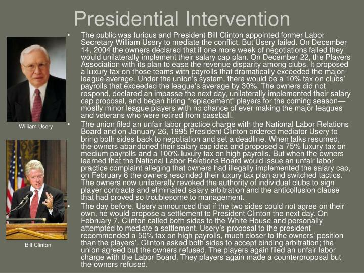 Presidential Intervention