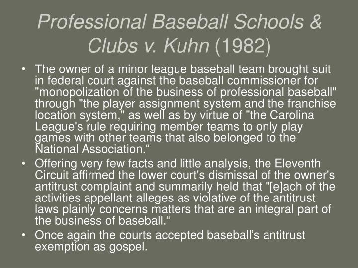 Professional Baseball Schools & Clubs v. Kuhn
